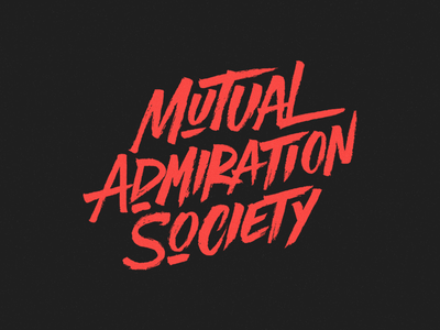 Final logo 'Mutual Admiration Society'