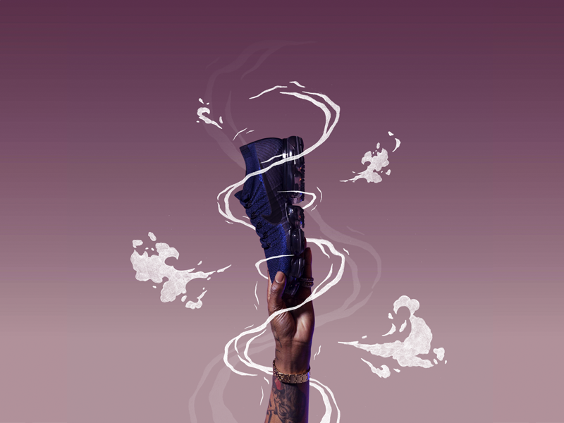 Nike VaporMax Day to Night branding concept print instagram paint calligraphy brush typography type lettering handlettering nike