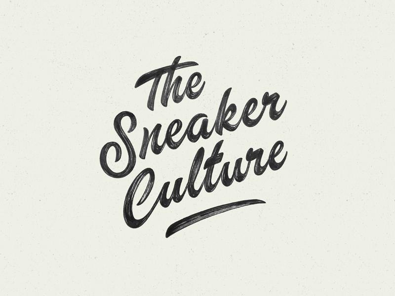 The Sneaker Culture branding concept print instagram sneaker calligraphy brush logo typography type lettering handlettering