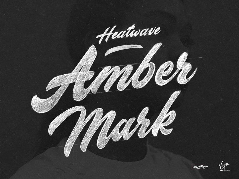 Amber Mark - Heatwave (Virgin EMI Records) music branding concept print instagram calligraphy brush logo typography type lettering handlettering