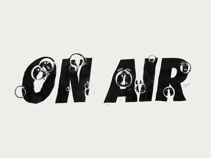 'On Air' typo graphic design logo sport adidas nike bubbles typography type lettering
