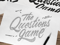 'The Questions Game' logo concepts