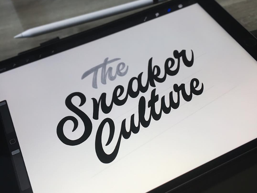 The making of 'The Sneaker Culture' sneaker procreate branding logo calligraphy typography type handlettering lettering