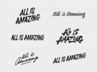'All Is Amazing' logo concepts