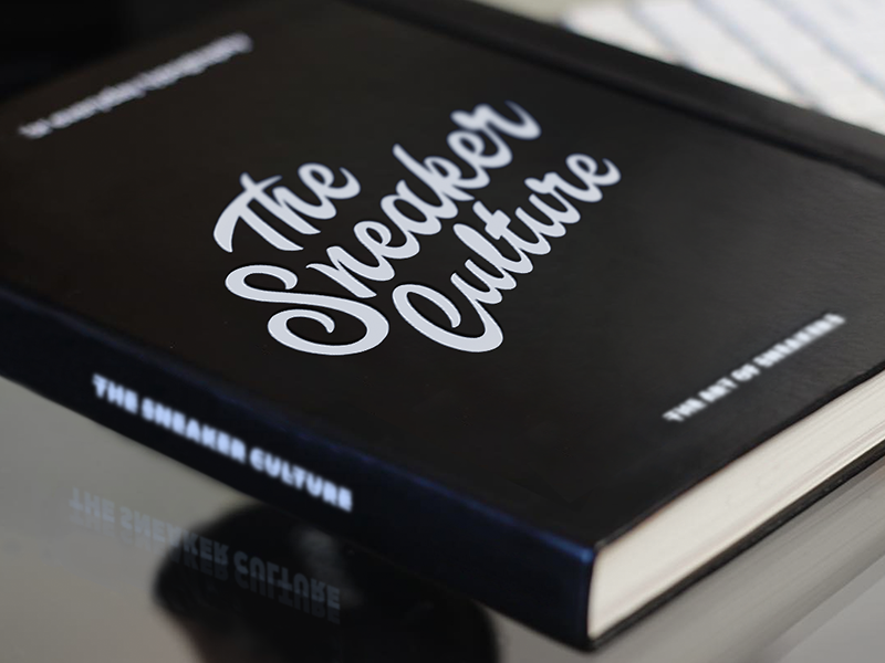 The Sneaker Culture book cover book art cover book concept branding typo logo calligraphy brush typography handlettering type lettering