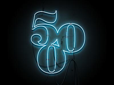 '500' Neon Sign neon sign graphic photoshop art graphic  design 500 neon light neon design logo typography type