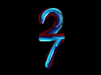 twenty-seven monogram poster paint logo calligraphy brush typography handlettering type lettering