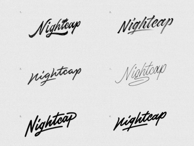 Nightcap logo sketches