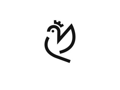 Daily Logo Challenge   42 — Postal Service minimal icon design logotype logo postal pigeon heraldry flat daily logo challenge dribbble