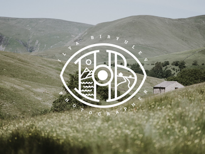 Photographer Logo (Ilya Biryulev) photography logo photographer modern logo logotype logo minimal flat dribbble design
