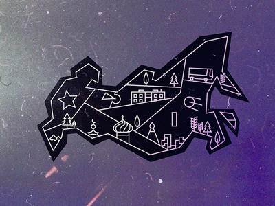 New Russian Map minimal modern logo logotype logo design flat dribbble logo noise