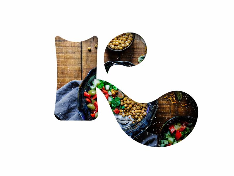 Kalgin Chef logo branding minimal logotype logo food logo food cooking k letter logo chef logo