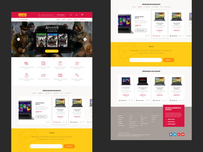 E-commerce shop redesign website homepage redesign ecommerce