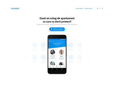 Landing page (wip) blue mobile app landing page