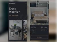 Interior App interiorapp mobile app dark