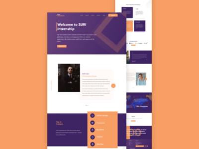Suri Internship web design internship web landing page
