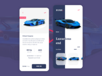 Rent UI design rent mobile rush cart car
