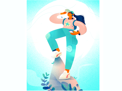 Just Do It! web hiking product design vector characterdesign minimal illustration branding flat design