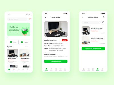 e-Cycle Study Mobile App redesign uidesign ui  ux green graphicdesign mobile app mobile ui branding ux ui minimal app flat design