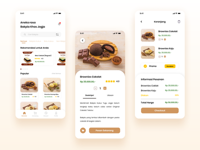 Bakpia Tugu Jogja food app mobile app design uiux designer uidesign uiux design uiux uiuxdesign bakpiajogja jogja indonesia graphicdesign mobile ui mobile app ux ui minimal app design