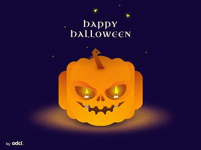 Happy Halloween Dribbblers! web design illustration design halloween illustration art dribbbleweeklywarmup adci