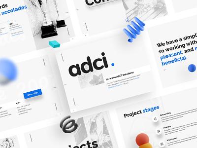 ADCI Solutions presentation web design development drupal ux adcisolutions branding ui design website adci presentation product