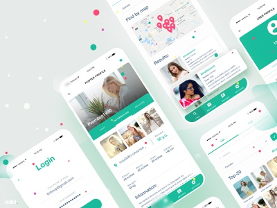 Dating App Concept dating peekup datingapp mobileapp mobile web design ui drupal case website