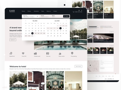 Hotel Booking Landing Page e-commerce website e-commerce design e-commerce responsive web design website ui drupal adci design booking bookinghotel renthouse landingpage hotel booking