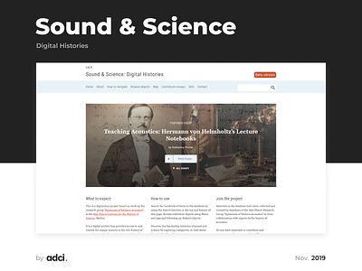 Sound & Science: Digital Histories teaching responsive service sound web design adci drupal development website