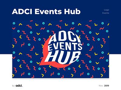 ADCI Events Hub teaching speaker learning 2019 adci logotype design idenyty logotype logo design logo