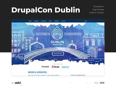 DrupalCon Dublin ui logotype design logotype idenyty drupal logo design design illustration learning development