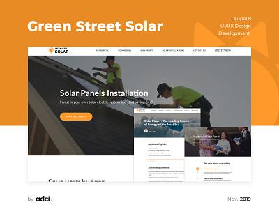 Green Street Solar case responsive web design web website ui logo design logo design development adci