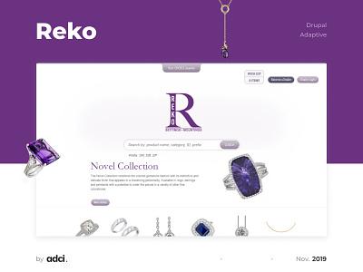 Reko web design jewelry adaptive responsive website case ui design drupal development adci