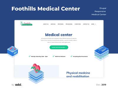 Foothills Medical Center web design vector illustration website case ui drupal design development adci