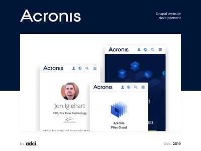 Acronis backup systems backup systems multilanguage responsive design mobilefirst mobile web design design responsive website case drupal ui adci development