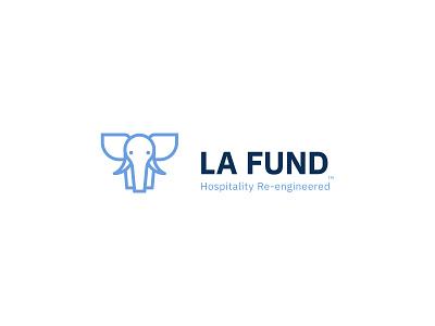 LA FUND hospitality fund elephant branding identity logo