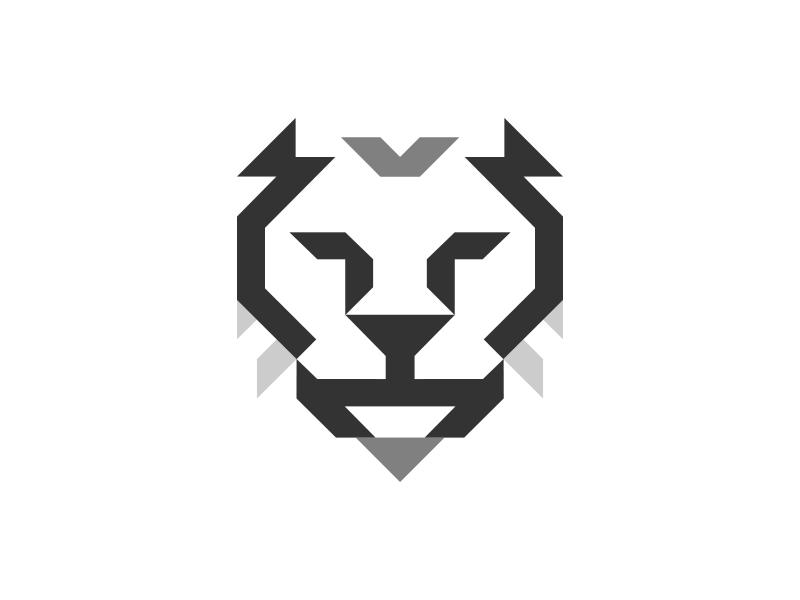 Digital Tiger modular tiger lion stylized animal brandmark identity logo