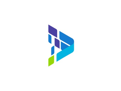 Polyresoursing particles arrow identity logo