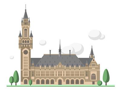 Peace Palace vector design simple illustration flat