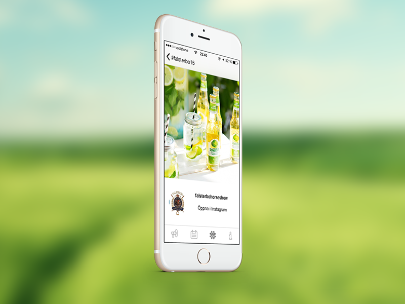 Falsterbo Horse Show 2015 app iphone ux ui