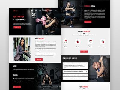Sherly Worth SecondHalf Website personal website wordpress coaching trainer eating health uiux landingpage secondhalf website