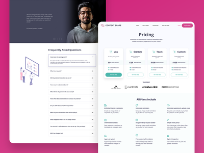 Content Snare Pricing Page website design website ux ui pricing page landingpage