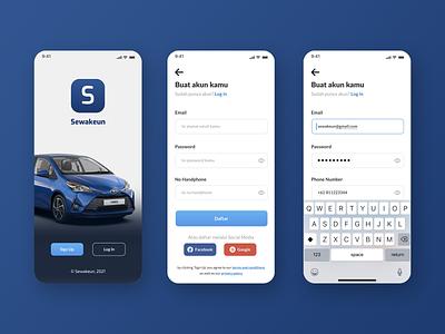 Sewakeun Car Rental   Part 1 mobile app mobile ui mobile design ios app design rent car app mobile ux ui