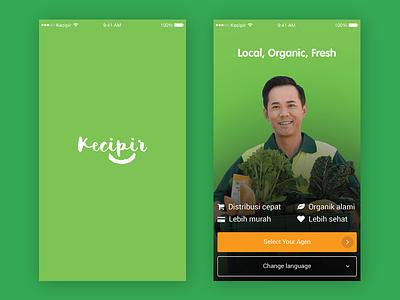 E-commerce Mobile App Concept vegetable local fruit farmer e-commerce