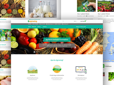 Agrowing Homepage Redesign vegetable service order maps location local indonesia fruit farmer e-commerce delivery agent