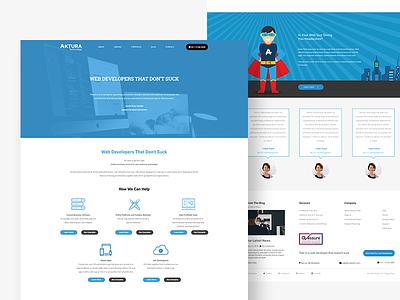 Aktura Homepage service saas agency web ui layout landing homepage