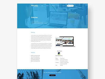 Aktura Studycase web ui service client layout landing studycase agency