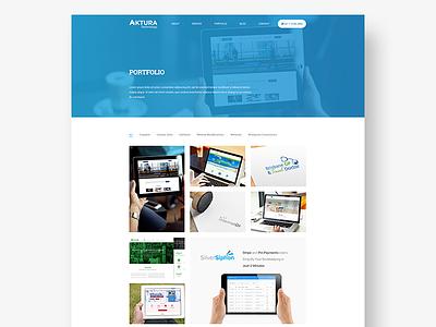 Aktura Portfolio gallery web ui client layout landing portfolio agency