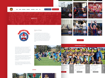 PCYC - What is it? youth sport web design uiux design website sketch app agency