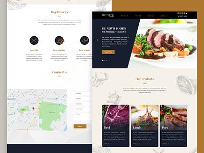 De Novo Foods Site uiux design website meats agency